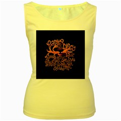 Panic At The Disco   Lying Is The Most Fun A Girl Have Without Taking Her Clothes Women s Yellow Tank Top by Samandel