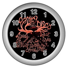 Panic At The Disco   Lying Is The Most Fun A Girl Have Without Taking Her Clothes Wall Clocks (silver)  by Samandel
