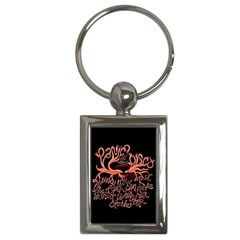 Panic At The Disco   Lying Is The Most Fun A Girl Have Without Taking Her Clothes Key Chains (rectangle)  by Samandel