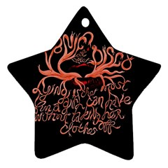 Panic At The Disco   Lying Is The Most Fun A Girl Have Without Taking Her Clothes Star Ornament (two Sides) by Samandel