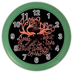 Panic At The Disco   Lying Is The Most Fun A Girl Have Without Taking Her Clothes Color Wall Clocks by Samandel