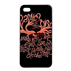 Panic At The Disco   Lying Is The Most Fun A Girl Have Without Taking Her Clothes Apple Iphone 4/4s Seamless Case (black) by Samandel