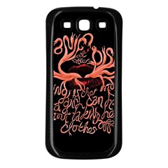 Panic At The Disco   Lying Is The Most Fun A Girl Have Without Taking Her Clothes Samsung Galaxy S3 Back Case (black) by Samandel