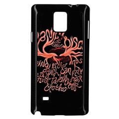 Panic At The Disco   Lying Is The Most Fun A Girl Have Without Taking Her Clothes Samsung Galaxy Note 4 Case (black) by Samandel