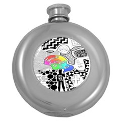 Panic ! At The Disco Round Hip Flask (5 Oz) by Samandel