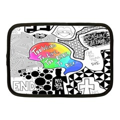 Panic ! At The Disco Netbook Case (medium)  by Samandel