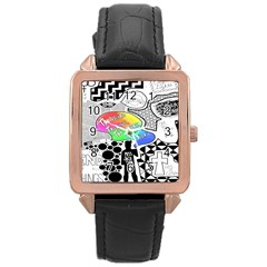 Panic ! At The Disco Rose Gold Leather Watch  by Samandel