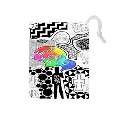 Panic ! At The Disco Drawstring Pouches (medium)  by Samandel