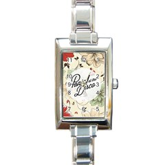 Panic At The Disco Beautifull Floral Rectangle Italian Charm Watch by Samandel