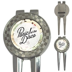 Panic At The Disco Beautifull Floral 3 In 1 Golf Divots by Samandel