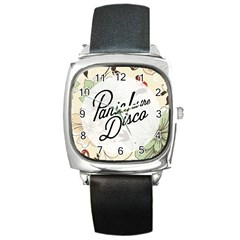 Panic At The Disco Beautifull Floral Square Metal Watch by Samandel