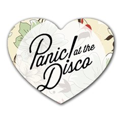 Panic At The Disco Beautifull Floral Heart Mousepads by Samandel