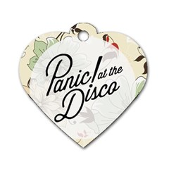 Panic At The Disco Beautifull Floral Dog Tag Heart (two Sides) by Samandel