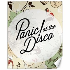 Panic At The Disco Beautifull Floral Canvas 11  X 14
