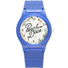 Panic At The Disco Beautifull Floral Round Plastic Sport Watch (s) by Samandel