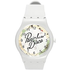 Panic At The Disco Beautifull Floral Round Plastic Sport Watch (m) by Samandel