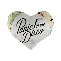 Panic At The Disco Beautifull Floral Standard 16  Premium Heart Shape Cushions by Samandel