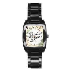 Panic At The Disco Beautifull Floral Stainless Steel Barrel Watch by Samandel