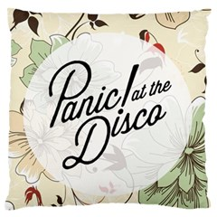 Panic At The Disco Beautifull Floral Large Flano Cushion Case (two Sides) by Samandel