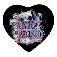 Panic At The Disco Art Heart Ornament (two Sides) by Samandel