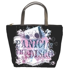 Panic At The Disco Art Bucket Bags by Samandel