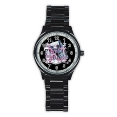 Panic At The Disco Art Stainless Steel Round Watch by Samandel