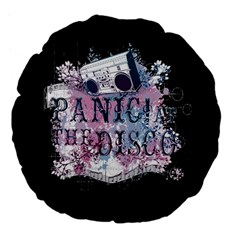 Panic At The Disco Art Large 18  Premium Flano Round Cushions by Samandel