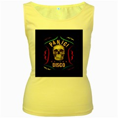 Panic At The Disco Poster Women s Yellow Tank Top by Samandel