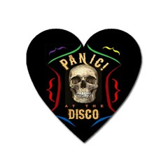 Panic At The Disco Poster Heart Magnet by Samandel
