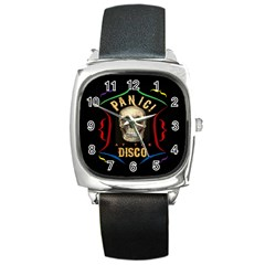 Panic At The Disco Poster Square Metal Watch by Samandel
