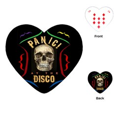 Panic At The Disco Poster Playing Cards (heart)  by Samandel