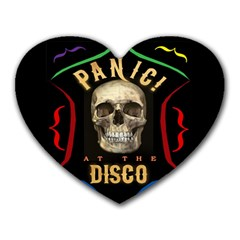 Panic At The Disco Poster Heart Mousepads by Samandel