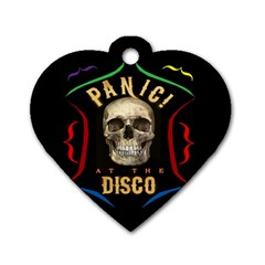 Panic At The Disco Poster Dog Tag Heart (two Sides)