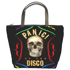 Panic At The Disco Poster Bucket Bags by Samandel