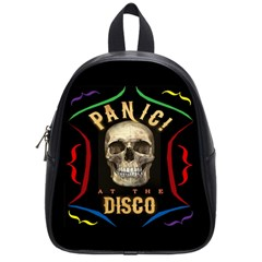Panic At The Disco Poster School Bag (small) by Samandel