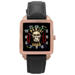 Panic At The Disco Poster Rose Gold Leather Watch  by Samandel