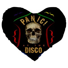 Panic At The Disco Poster Large 19  Premium Flano Heart Shape Cushions by Samandel