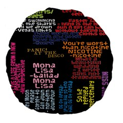 Panic At The Disco Northern Downpour Lyrics Metrolyrics Large 18  Premium Flano Round Cushions by Samandel