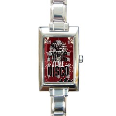 Panic At The Disco Poster Rectangle Italian Charm Watch by Samandel