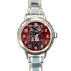 Panic At The Disco Poster Round Italian Charm Watch by Samandel