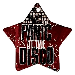 Panic At The Disco Poster Ornament (star) by Samandel