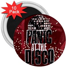 Panic At The Disco Poster 3  Magnets (10 Pack)  by Samandel