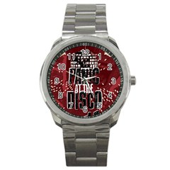 Panic At The Disco Poster Sport Metal Watch by Samandel