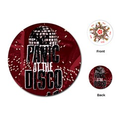Panic At The Disco Poster Playing Cards (round)  by Samandel