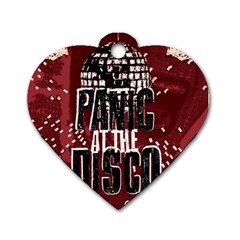 Panic At The Disco Poster Dog Tag Heart (two Sides) by Samandel