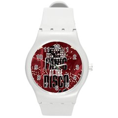 Panic At The Disco Poster Round Plastic Sport Watch (m) by Samandel