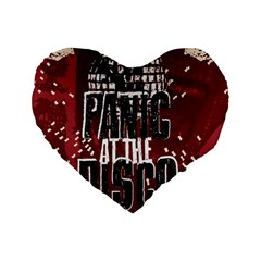 Panic At The Disco Poster Standard 16  Premium Heart Shape Cushions by Samandel