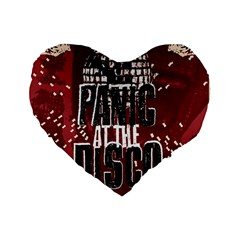 Panic At The Disco Poster Standard 16  Premium Flano Heart Shape Cushions by Samandel