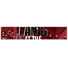 Panic At The Disco Poster Large Flano Scarf  by Samandel