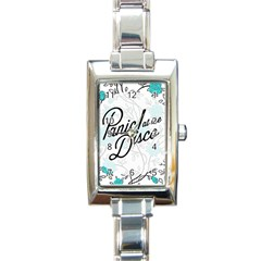 Panic At The Disco Quote Rectangle Italian Charm Watch by Samandel